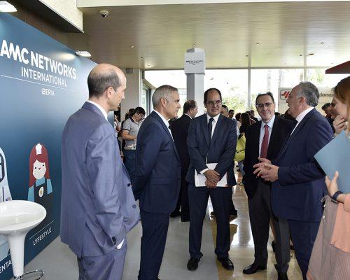 Los representantes del Gobierno de Murcia, la CNMC, AOTEC, AMC Networks, y el Ministerio de Energía, Turismo y Agenda Digital.