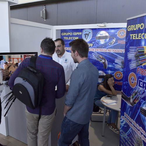 La empresa de venta de fibra óptica Igar en la feria tecnológica 2017.