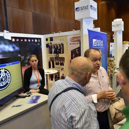 La productora de contenidos audiovisuales Global Media expuso su oferta de canales en la feria AOTEC 2017.