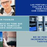 Las portabilidades son posibles con restricciones